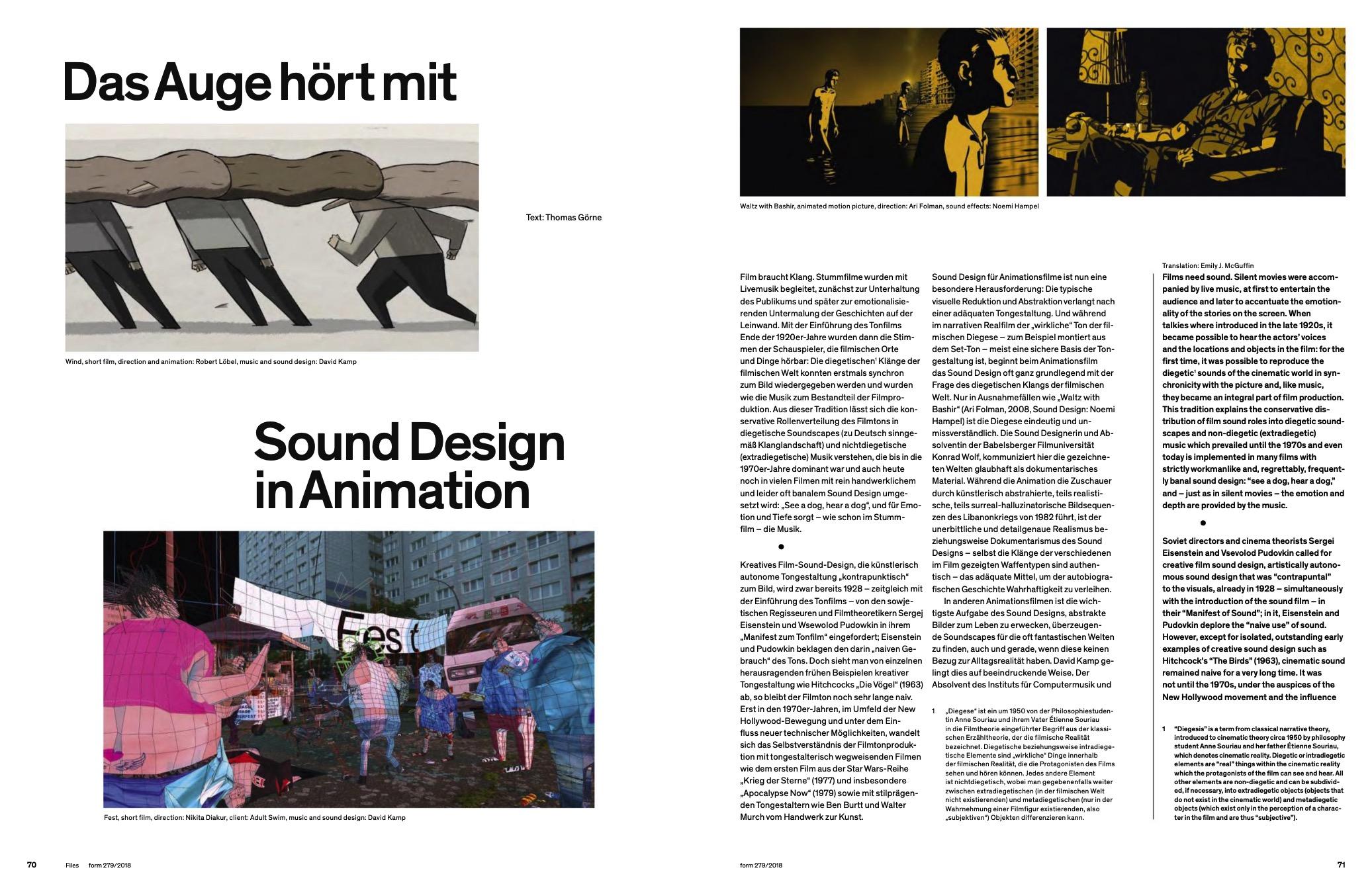 form magazine kamp sound