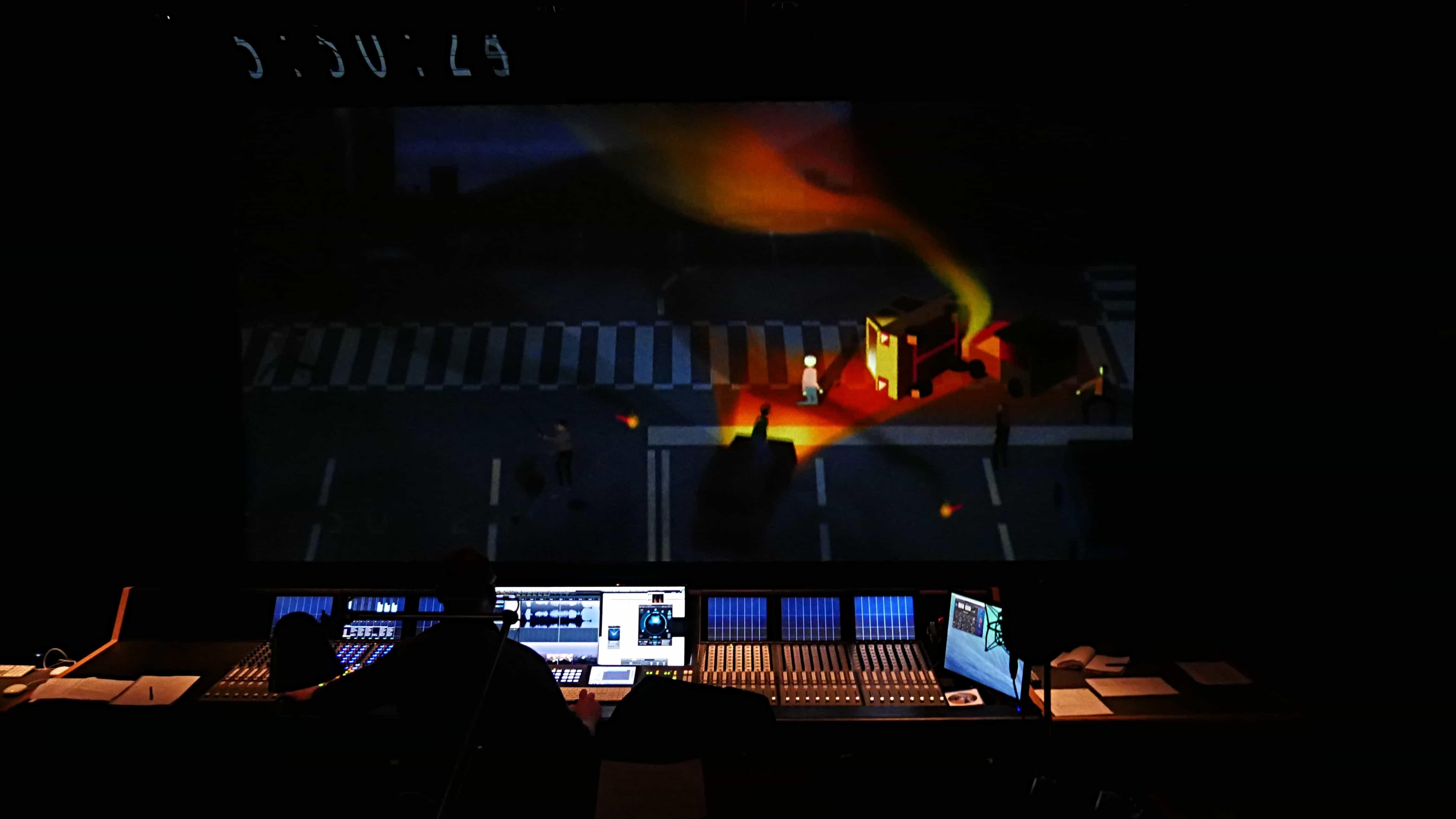 David Kamp cinema mix dolby mixing stage berlin